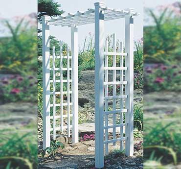 Sefaco sefaco pvc produits de jardins tonnelle de jardin - Tonnelle en bois pour jardin ...